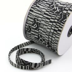 Sznurek bawełniany MASAJKA płaska cz-b 10mm [0,5metra]