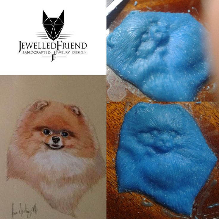 You would like to own a piece of jewelry about your doggie? Buy the wax modeling of your own doggie ! by JewelledFriend on Etsy