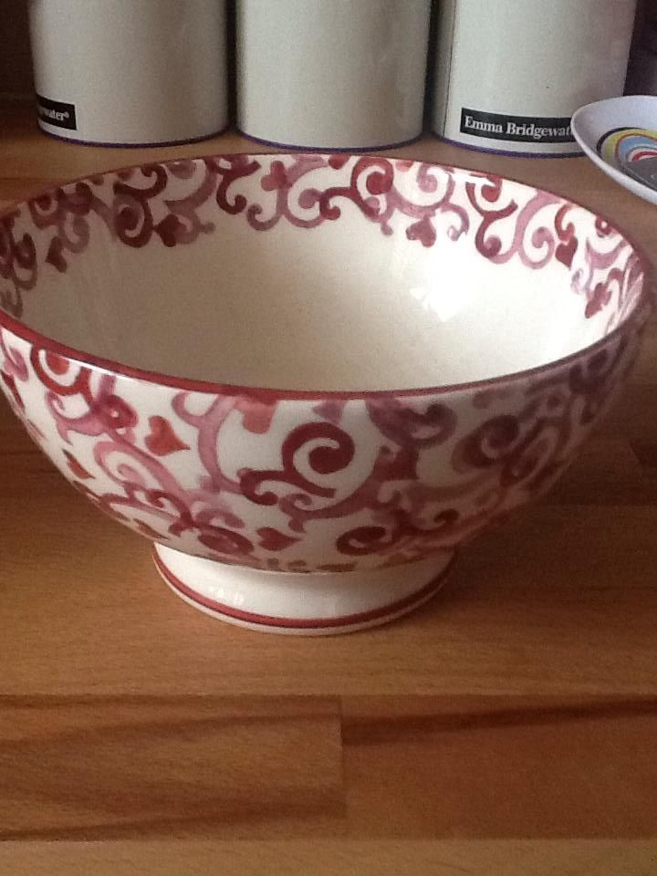 Emma Bridgewater Studio Special Pink French Bowl for Collectors Day 2012