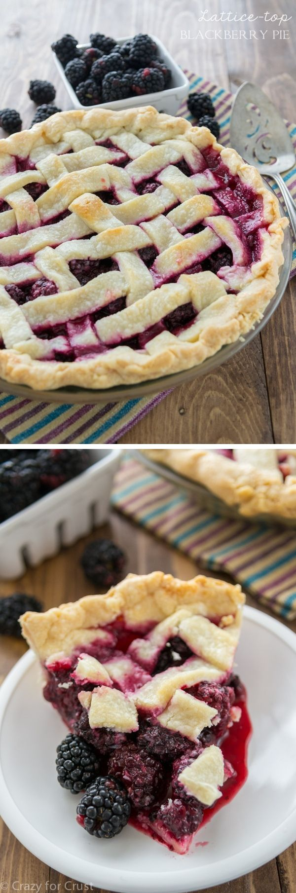 Lattice Blackberry Pie and a photo tutorial on how to make a lattice-top pie crust!