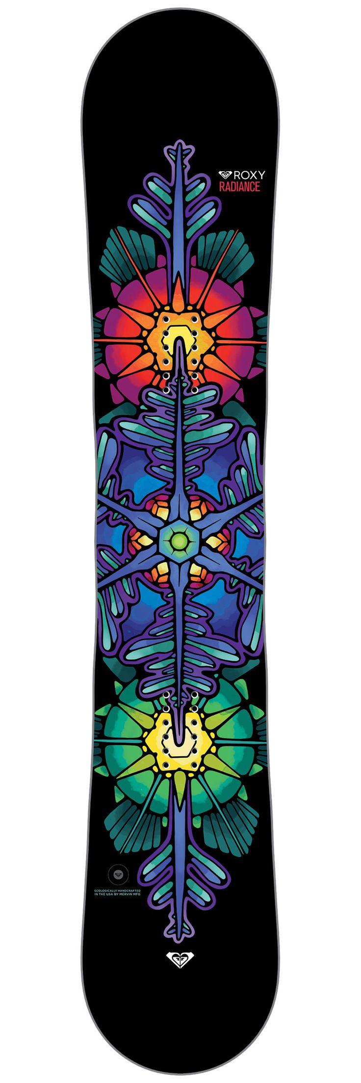 Planche snowboard Roxy Radiance Dessus 2017