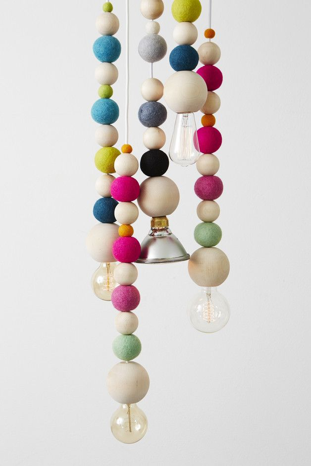 Colorful ceiling lights – a unique product by NORD-Home via en.DaWanda.com #playful #home #pink