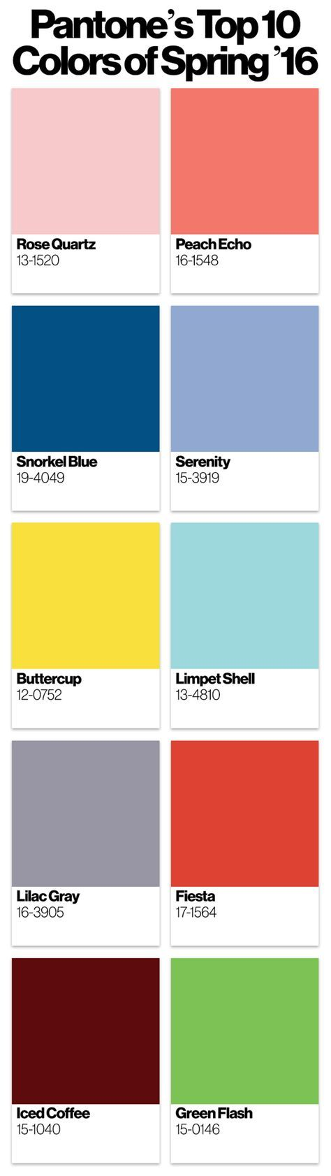 Sometimes the world of fashion has a bit of a crystal ball element to it—hello, we're all talking about spring 2016 now, before we've even started this fall! The color pros at Pantone traditionally reside...
