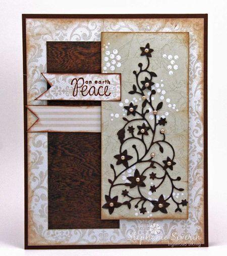Card by Stephanie Severin  (032113)          [Memory Box Flowering Christmas Tree]