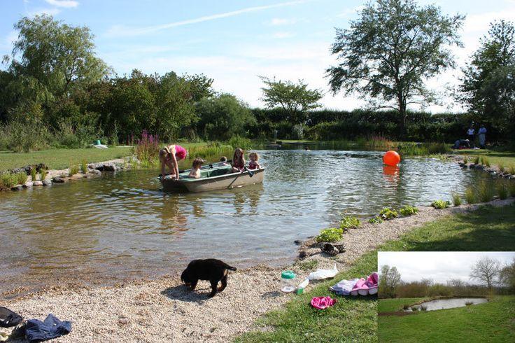 51 best natural swimming pools images on pinterest for Garden pond gravel