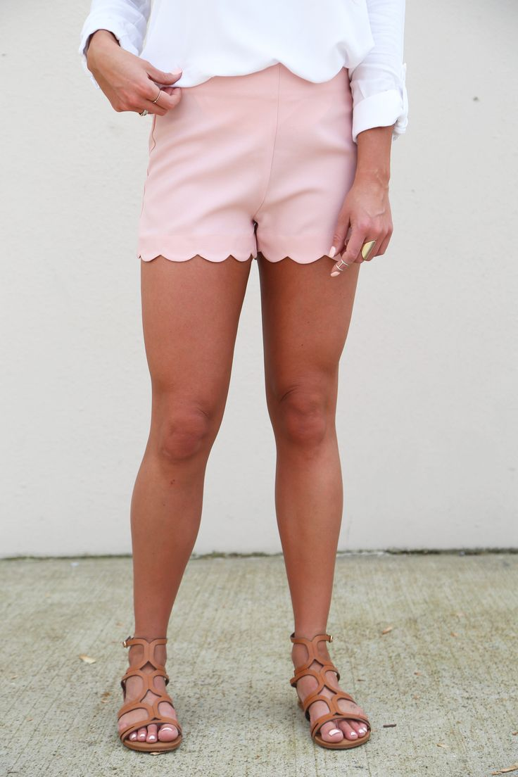 Little Scalloped Shorties {Blush} from The Rage