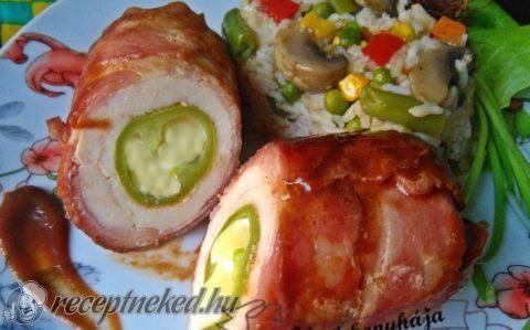 Baconos BBQ csirkemell recept fotóval