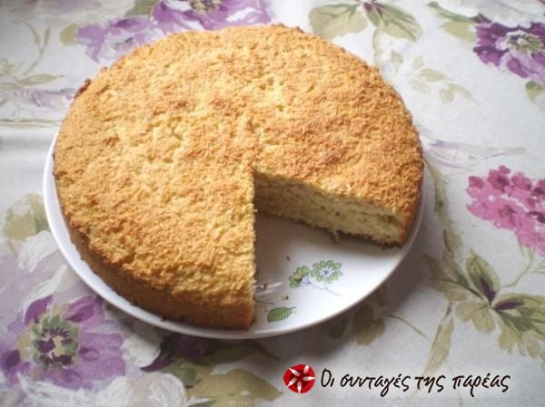 Άλαδο κέικ ινδοκάρυδο /no oil coconut cake  #sintagespareas