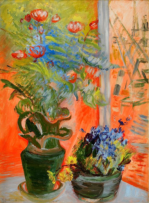 Sigrid Hjertén, Flowers in the Window
