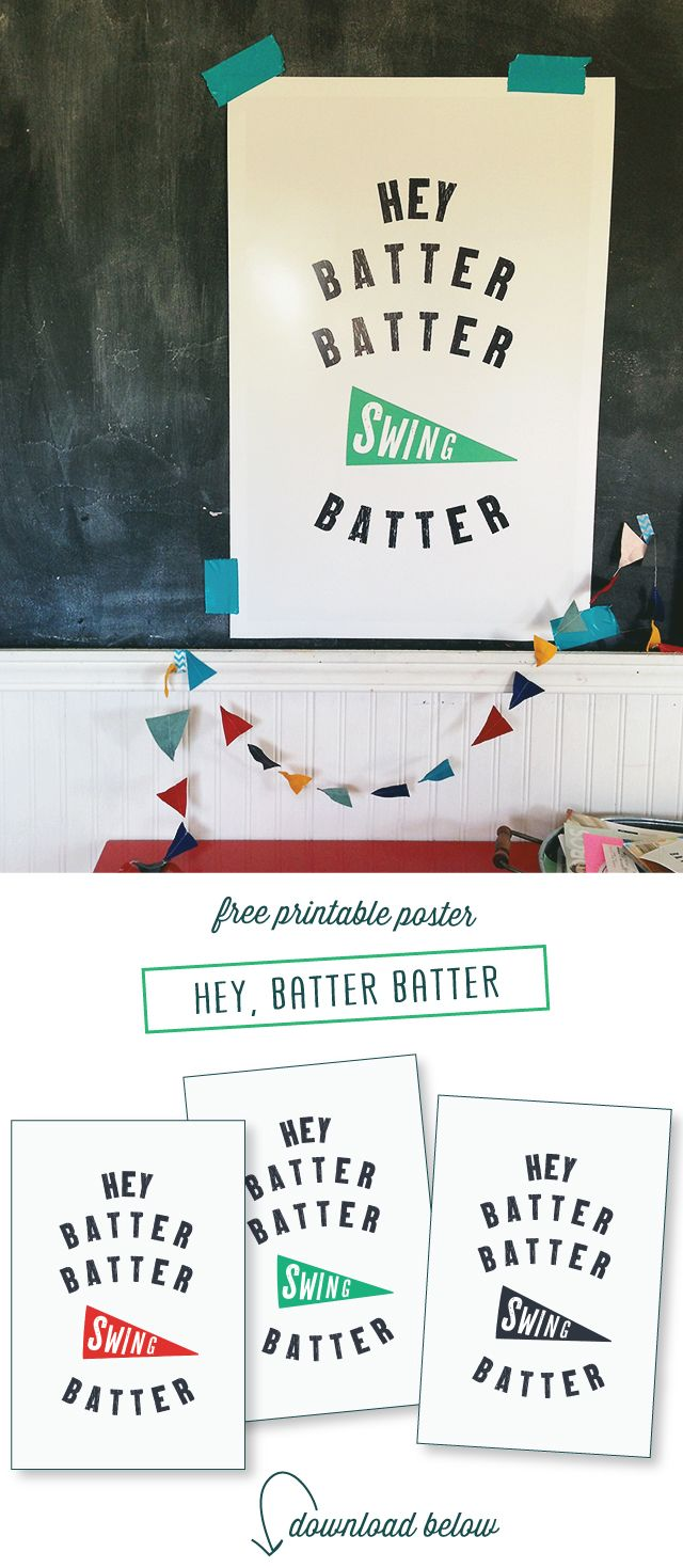 free baseball posters download and printable | design by raeannkelly.com  #raeannkellypins #rakpinparty
