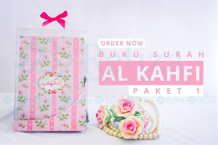 Buku Surat Al-Kahfi dengan halaman full color. Bisa custom motif cover dan halaman