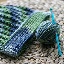 An easy crocheted ribbed hat for donation to a local ...