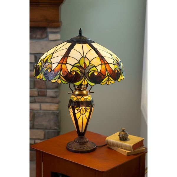 Crepeau Double Lit Tiffany 24 Table Lamp In 2021 Art Glass Table Lamp Tiffany Table Lamps Table Lamp