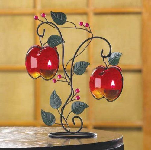 Country Apples Tealight Holder. Apple Kitchen DecorRed ...