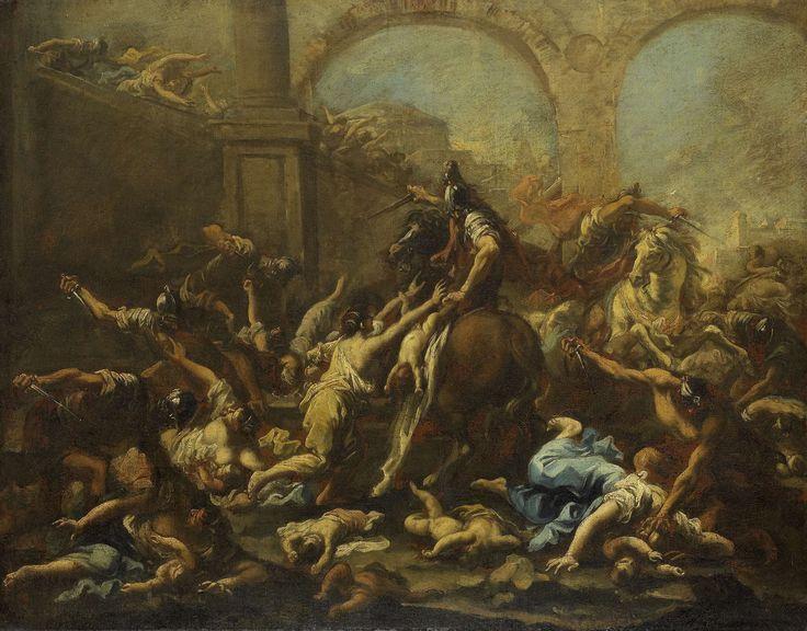 Alessandro Magnasco   Massacre of the Innocents, Alessandro Magnasco, 1715…