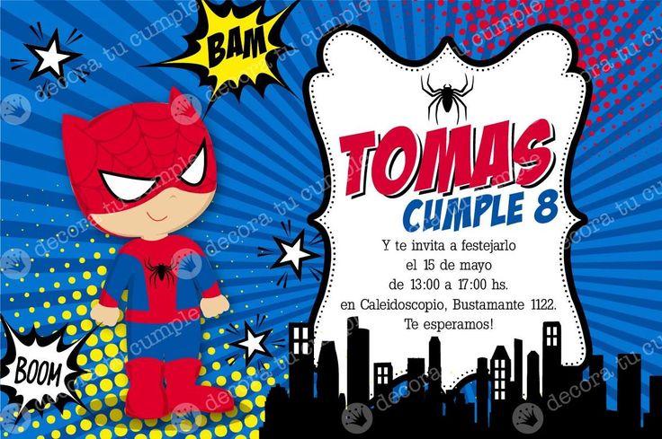 Invitaciones De Cumpleaños De Spiderman Para Poner De Fondo 2  en HD Gratis - Visit to grab an amazing super hero shirt now on sale