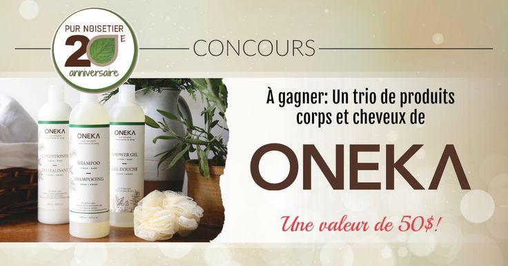Courez la chance de gagner un trio de produits corps et cheveux par ONEKA, d'une valeur de 50$! Un nouveau concours chaque jour jusqu'au 26 octobre. Bonne chance!