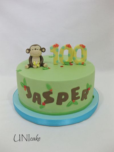 C204. Pienen pojan ensimmäiseen juhlaan. Cake for a baby's 100th day celebration