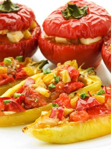 Stuffed Peppers!: Food Recipes, Herbs Salad, Picnic Foods, Picnics Ideas, Food Ideas, Roasted Peppers, Picnics Food, Roasted Red Peppers, Healthy Picnic