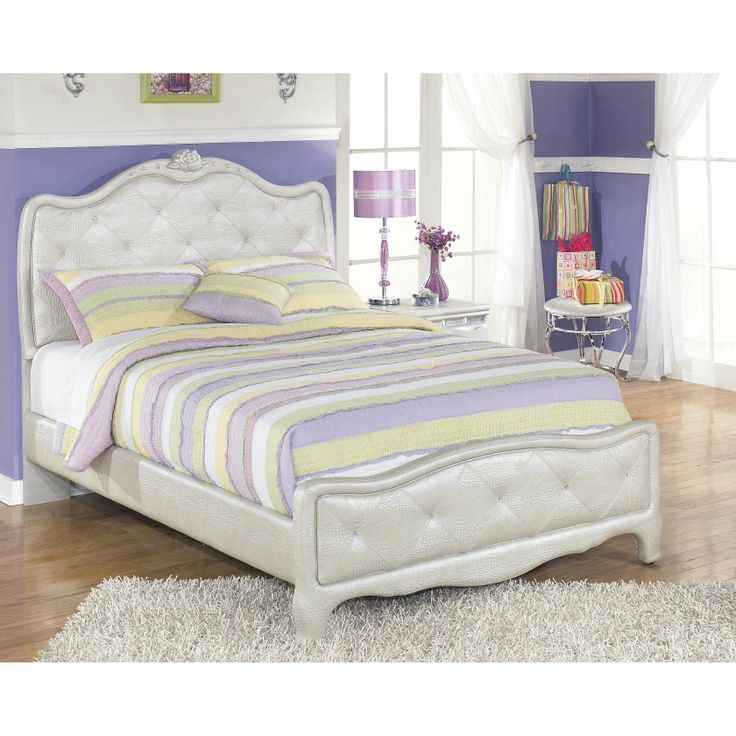 Furnituremaxx Julia Silver And Pear Girl S Full Size Bedroom Set Bed Dresser Mirror Night Stand