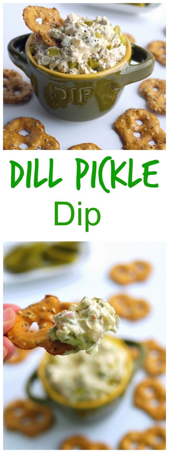 Homemade Dill Pickle Dip! This easy to make and delicious dish will definitely make it to our table this weekend!