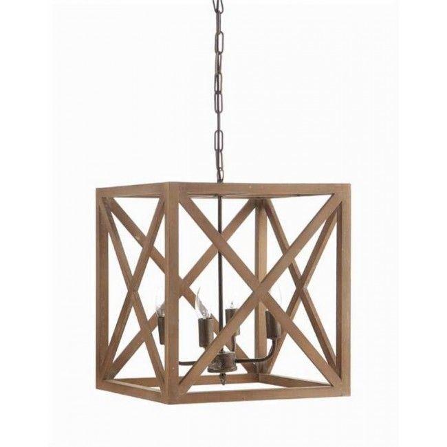 Square Metal Wood Chandelier Wattage DA4433 By Creative Co Op Alert 26