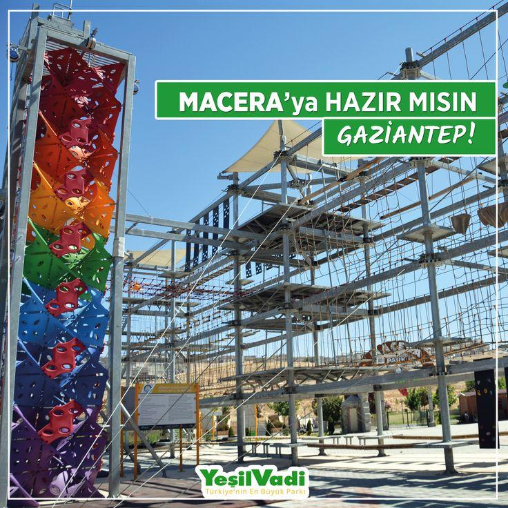 Macera'ya hazır mısın Gaziantep? Adrenalini doruklalarda yaşamaya ne dersiniz? #YeşilVadi #MaceraPark #Gaziantep