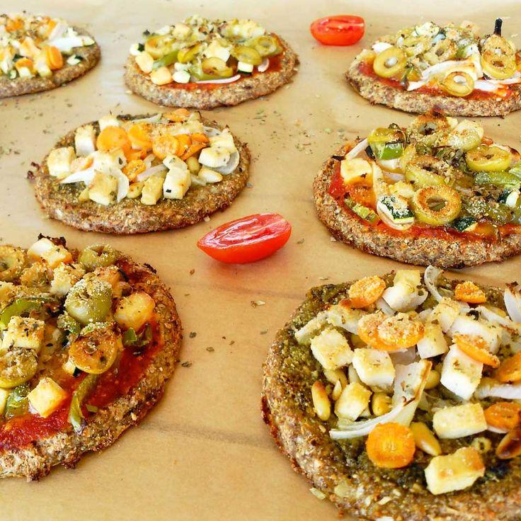 Pizzetas de coliflor | la gloria vegana