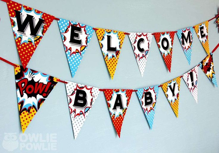 Superheros Baby Shower Party Ideas | Photo 1 of 20 | Catch My Party