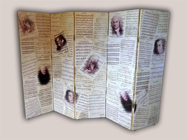 taliato i legni , fotocopiato le partiture e dopo decoupage  meta to kopsimo ton ksilon kai kanontas fototipies tis partitures ... decoupage