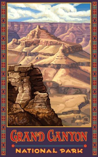 vintage grand canyon poster