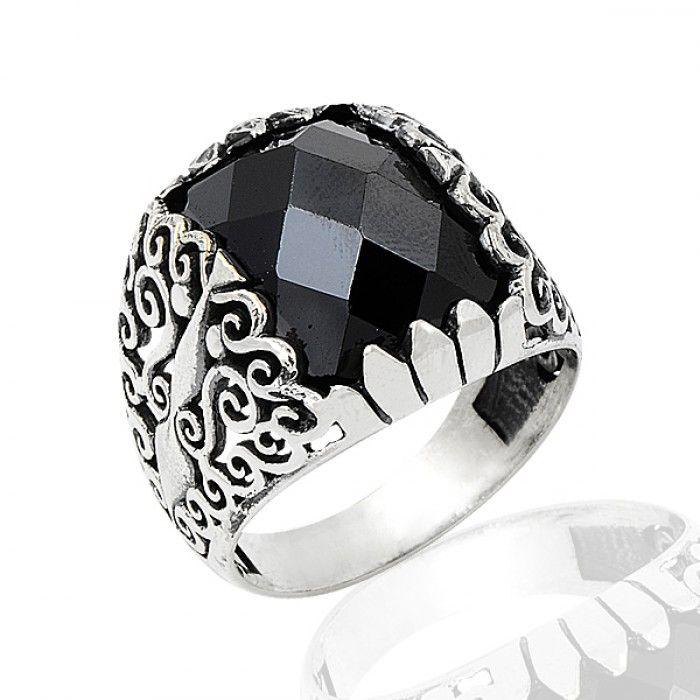 Zirkon El İşlemeli Gümüş Yüzük TS.546