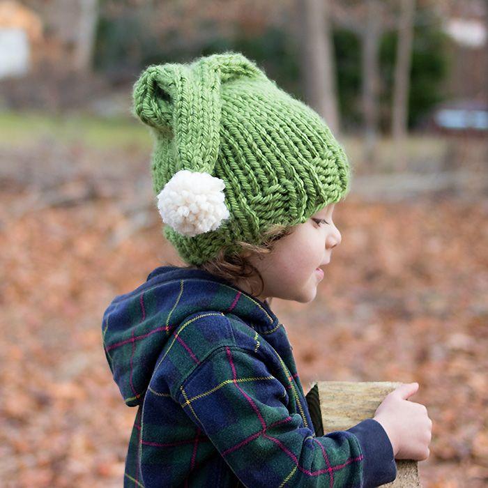 Elf Hat Free Knitting Pattern   Knitting   Pinterest   Bebé