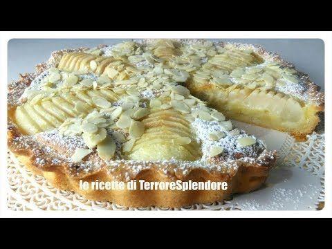 Crostata con crema frangipane e pere