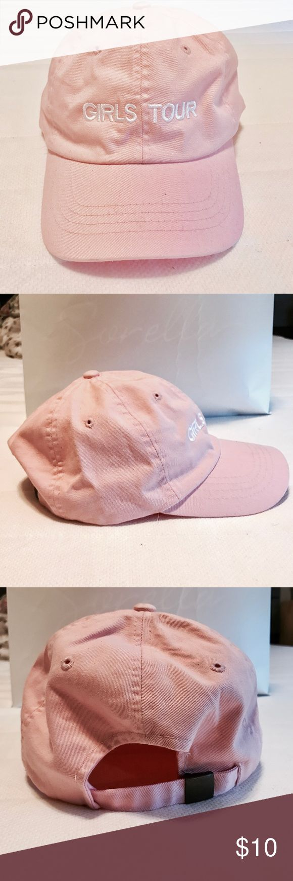 Girls Tour Baseball Hat From Sorella Boutique where Kylie Jenner shops. Has small stain from makeup. Brandy Melville Accessories Hats