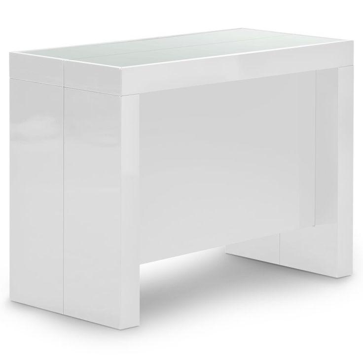 Les Meilleures Idées De La Catégorie Console Extensible Blanc - Console extensible blanc laque pour idees de deco de cuisine