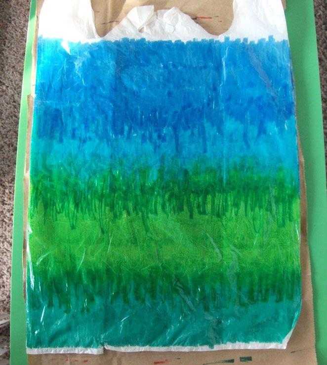 "Hand ""Dyed"" Plastic Bag Yarn - DIY"