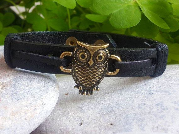 Hey, I found this really awesome Etsy listing at https://www.etsy.com/listing/287277595/spiritual-bronze-owl-leather-mens-womens