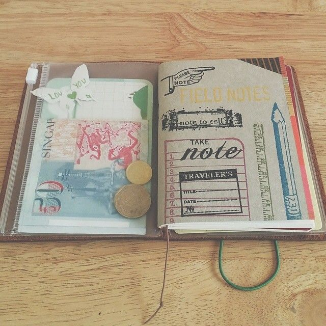 """Notes Inside my pocket notebook/wallet: Gave myself permission to not have to keep this notebook """"nice"""", so it's practically scratch paper - shopping lists, to-dos, quick calculations and random jottings - and I've gotta say it feels good! #julytravelerschallenge"""