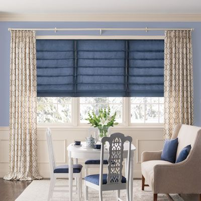 Inverted Pleat Drapery comes with many lining options ranging from Light Filtering to Blackout making them a practical option