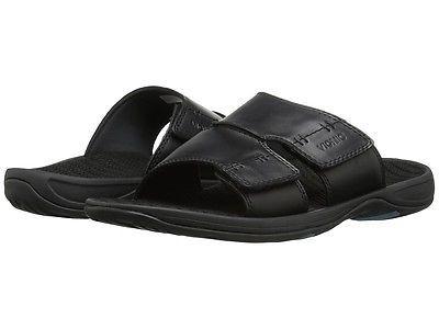 Vionic Jon Ortopédica Preto sandália de slide Masculino Tamanhos 8-14 / Nova!!!