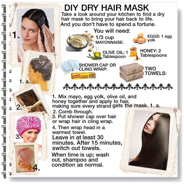 diy dry hair mask by cathy1965 on polyvore the beautification process pinterest beauty. Black Bedroom Furniture Sets. Home Design Ideas