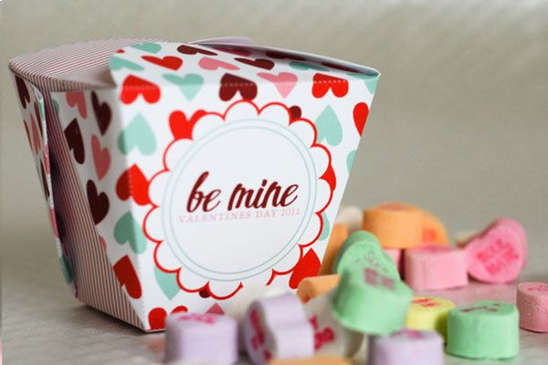 Confetti Sunshine: Free Printable : Valentines take out box