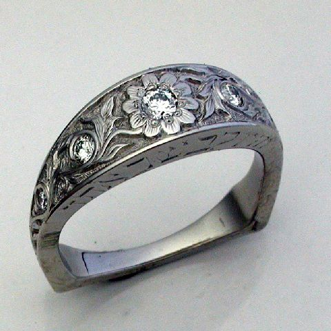 western style wedding rings | Custom engagements rings and Montana wedding bands