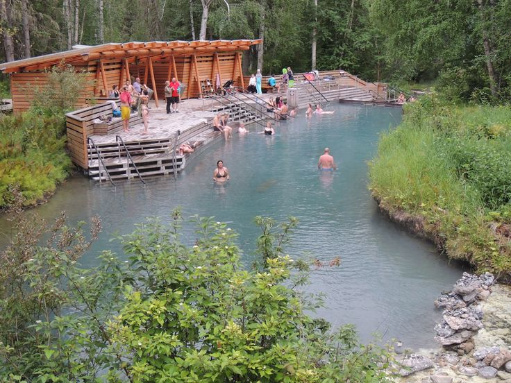 Liard Hot Springs Provincial Park on the famous Alaska Highway in Northern British Columbia. Great place to soak after a long road trip.