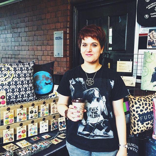 Caffeinated and ready to go... #sydneyrocknrollmarkets #sydneymarkets #honeysdeaddesign #honeysdead #etsyau #etsyshop