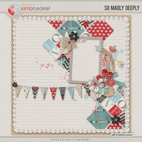 Scrapbooking TammyTags -- TT - Designer - Kim B Designs, TT- Item - Quick Page