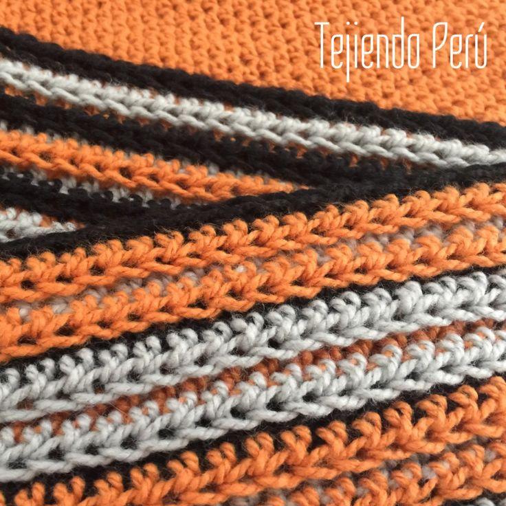 Crochet: bufanda fácil de tejer a crochet con una textura especial!  Paso a paso
