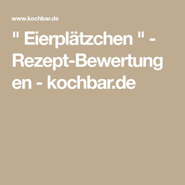 """"""" Eierplätzchen """" - Rezept-Bewertungen - kochbar.de"""