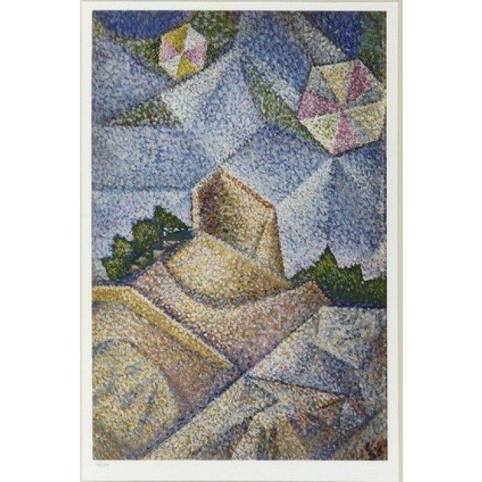 Silk-screen print-N.H.Ghika: Kites - X103